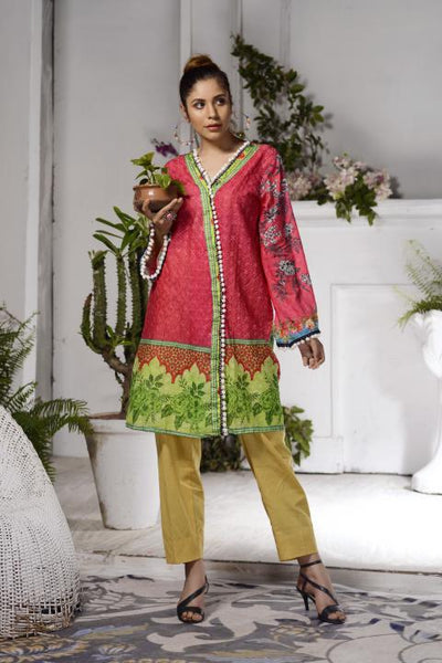 SSC-24 - SAFWA PREMIUM LAWN - STELLER COLLECTION Vol 2 2020 - EMBROIDERY DIGITAL - SHIRTS - Shirt-Kurti - safwa