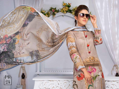 SAFWA DRESS DESIGN, DRESSES, PAKISTANI DRESSES, PR-24 - PRAHA COLLECTION - 3 PIECE SUIT 2019-Three Piece Suit-SAFWA -SAFWA Brand Pakistan online shopping for Designer Dresses