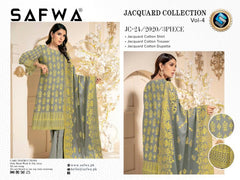 JC-24-SAFWA JACQUARD KARANDI/COTTON COLLECTION-3 PIECE DRESS - Safwa |Dresses| Pakistani Dresses| Fashion|Online Shopping