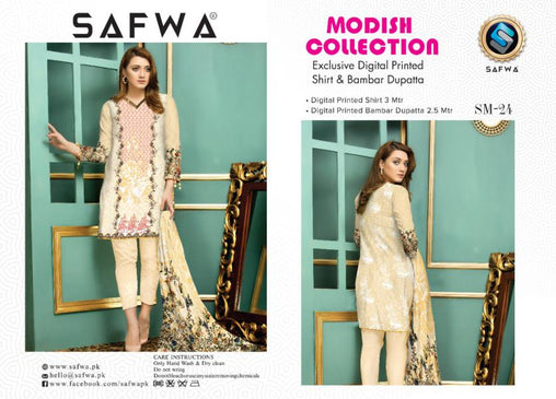 SM-24-SAFWA LAWN-MODISH COLLECTION- PRINTED -2 PIECE DRESS - Safwa |Dresses| Pakistani Dresses| Fashion|Online Shopping