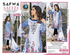 SL-25 -SAFWA LAWN-SALVIA COLLECTION VOL 04 2020 - PRINTED -2 PIECE DRESS - Safwa |Dresses| Pakistani Dresses| Fashion|Online Shopping