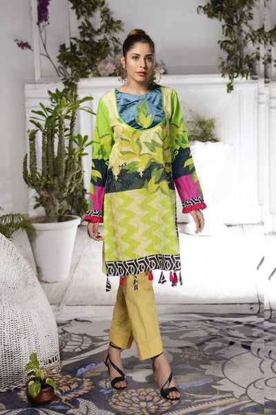 SSC-25 - SAFWA PREMIUM LAWN - STELLER COLLECTION Vol 2 2020 - EMBROIDERY DIGITAL - SHIRTS - Shirt-Kurti - safwa