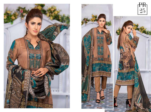 SAFWA DRESS DESIGN, DRESSES, PAKISTANI DRESSES, PR-25 - PRAHA COLLECTION - 3 PIECE SUIT 2019-Three Piece Suit-SAFWA -SAFWA Brand Pakistan online shopping for Designer Dresses