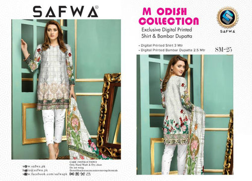 SM-25-SAFWA LAWN-MODISH COLLECTION- PRINTED -2 PIECE DRESS - Safwa |Dresses| Pakistani Dresses| Fashion|Online Shopping