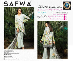 BC-25 - BELLA COLLECTION - 3 PIECE SUIT 2019-Three Piece Suit-SAFWA -SAFWA Brand Pakistan online shopping for Designer Dresses| SAFWA| DRESS| DESIGN| DRESSES| PAKISTANI DRESSES
