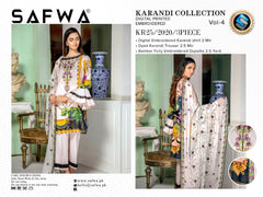 KR 25 - SAFWA DIGITAL KHADDAR 3 PIECE  PRINT COLLECTION -SHIRT Trouser and Duptta |SAFWA DRESS DESIGN| DRESSES| PAKISTANI DRESSES| SAFWA -SAFWA Brand Pakistan online shopping for Designer Dresses