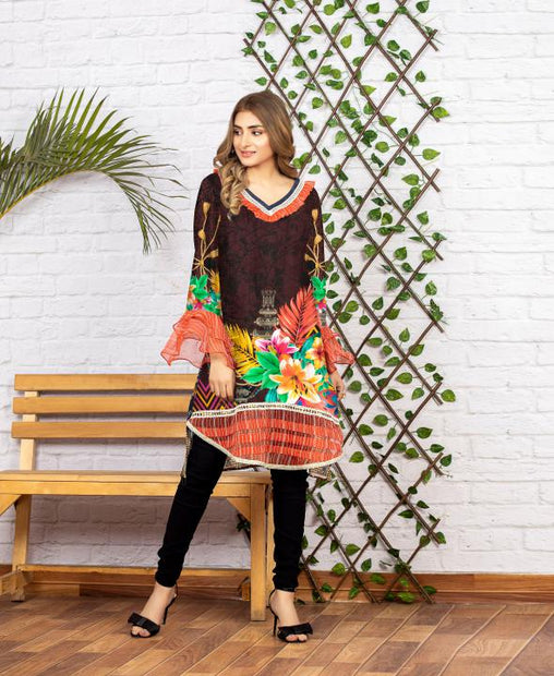 SSC/26 - SERENE COLLECTION VOL 4 2020 - SAFWA PREMIUM LAWN - DIGITAL SHIRT - KURTI