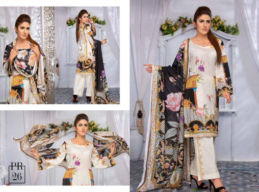 SAFWA DRESS DESIGN, DRESSES, PAKISTANI DRESSES, PR-26 - PRAHA COLLECTION - 3 PIECE SUIT 2019-Three Piece Suit-SAFWA -SAFWA Brand Pakistan online shopping for Designer Dresses