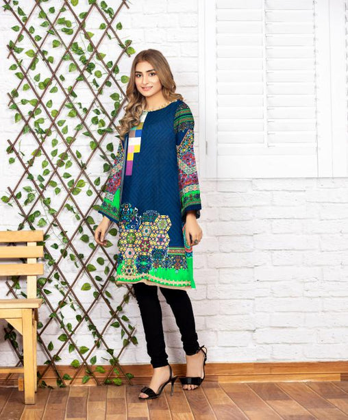 SSC/27 - SERENE COLLECTION VOL 4 2020 - SAFWA PREMIUM LAWN - DIGITAL SHIRT - KURTI