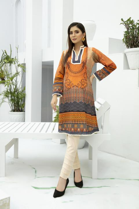 SSC-28 - SAFWA PREMIUM LAWN - STELLER COLLECTION Vol 3 2020 - EMBROIDERY DIGITAL - SHIRTS - Shirt-Kurti - safwa