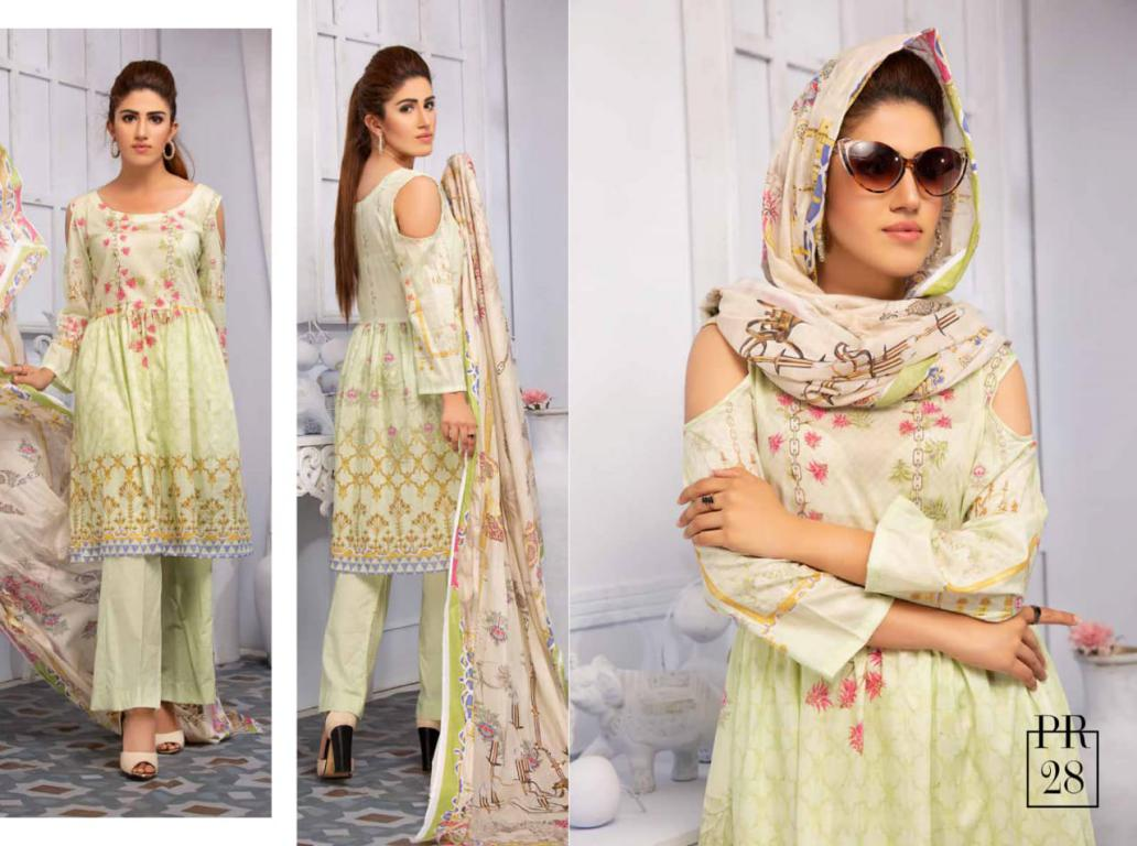 SAFWA DRESS DESIGN, DRESSES, PAKISTANI DRESSES, PR-28 - PRAHA COLLECTION - 3 PIECE SUIT 2019-Three Piece Suit-SAFWA -SAFWA Brand Pakistan online shopping for Designer Dresses