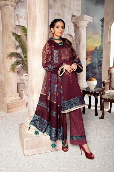 JC-29 - SAFWA JACQUARD COTTON COLLECTION VOL 3 2020 - 3 PIECE DRESS - Safwa | Dresses | Pakistani Dresses | Fashion| Online Shopping