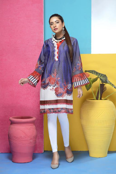 DM-02 -SAFWA DIGITAL PRINTED LAWN-MESURI COLLECTION-DIGITAL LAWN SHIRT - Safwa-Pakistani Dresses-Dresses-Kurti-Shop Online