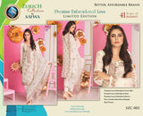 SZC-002 - SAFWA BRAND - ZURICH COLLECTION - EMBROIDERED - PREMIUM LAWN DRESS