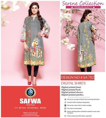 SA-702 - SAFWA LAWN - SERENE COLLECTION - DIGITAL  - SHIRTS