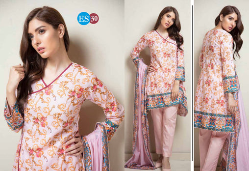 ES 30 - Exclusive  Collection Vol 2 - 3 PIECE SUIT 2019-Three Piece Suit-SAFWA -SAFWA Brand Pakistan online shopping for Designer Dresses-SAFWA DRESS DESIGN, DRESSES, PAKISTANI DRESSES