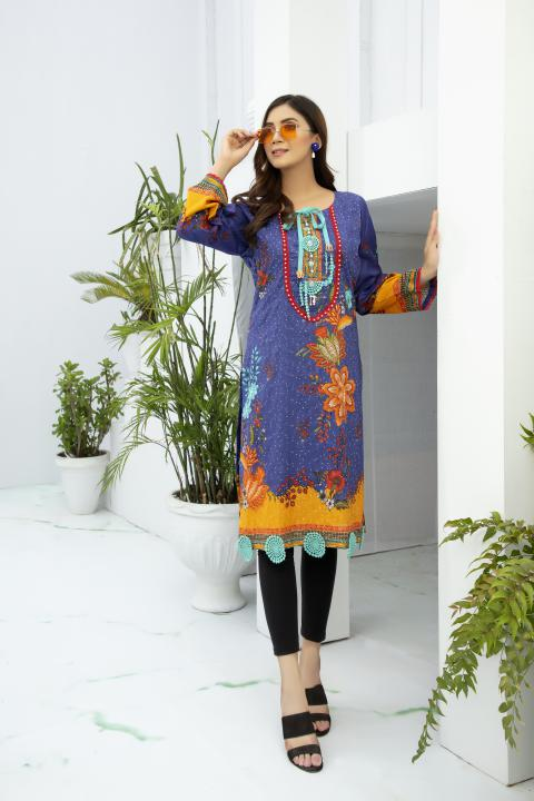 SSC-32 - SAFWA PREMIUM LAWN - STELLER COLLECTION Vol 3 2020 - EMBROIDERY DIGITAL - SHIRTS - Shirt-Kurti - safwa