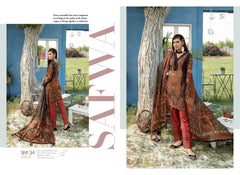 SM-34 - SAFWA DIGITAL EMBROIDERED 3 PIECE MODA COLLECTION -SHIRT Trouser and Duptta |SAFWA DRESS DESIGN| DRESSES| PAKISTANI DRESSES| SAFWA -SAFWA Brand Pakistan online shopping for Designer Dresses