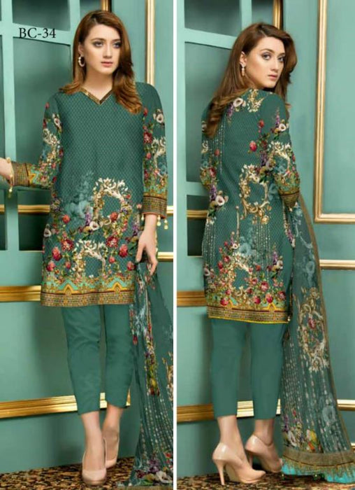 BC-34 - BELLA COLLECTION - 3 PIECE SUIT 2019-Three Piece Suit-SAFWA -SAFWA Brand Pakistan online shopping for Designer Dresses| SAFWA| DRESS| DESIGN| DRESSES| PAKISTANI DRESSES