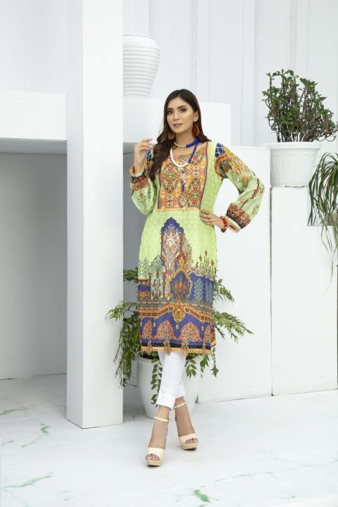 SSC-34 - SAFWA PREMIUM LAWN - STELLER COLLECTION Vol 3 2020 - EMBROIDERY DIGITAL - SHIRTS - Shirt-Kurti - safwa