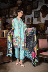 MC 35 - SAFWA DIGITAL MODALLE 3 PIECE PRINT COLLECTION -SHIRT Trouser and Duptta |SAFWA DRESS DESIGN| DRESSES| PAKISTANI DRESSES| SAFWA -SAFWA Brand Pakistan online shopping for Designer Dresses