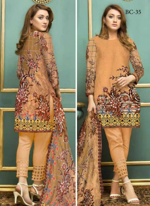 BC-35 - BELLA COLLECTION - 3 PIECE SUIT 2019-Three Piece Suit-SAFWA -SAFWA Brand Pakistan online shopping for Designer Dresses| SAFWA| DRESS| DESIGN| DRESSES| PAKISTANI DRESSES