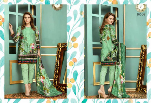 BC-36 - BELLA COLLECTION - 3 PIECE SUIT 2019-Three Piece Suit-SAFWA -SAFWA Brand Pakistan online shopping for Designer Dresses| SAFWA| DRESS| DESIGN| DRESSES| PAKISTANI DRESSES