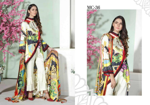 MC 36 - SAFWA DIGITAL MODALLE 3 PIECE PRINT COLLECTION -SHIRT Trouser and Duptta |SAFWA DRESS DESIGN| DRESSES| PAKISTANI DRESSES| SAFWA -SAFWA Brand Pakistan online shopping for Designer Dresses