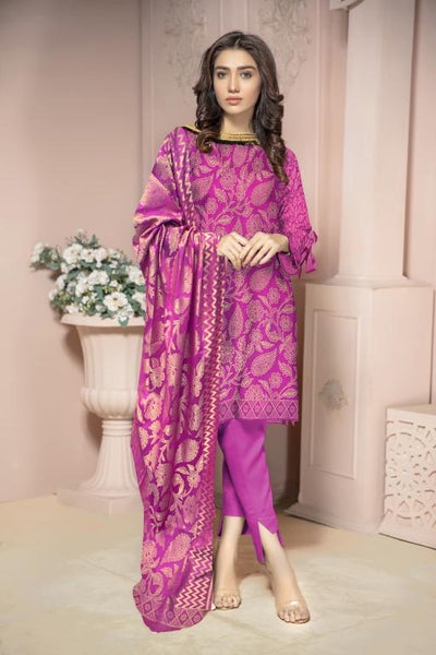 JC-38-SAFWA JACQUARD KARANDI/COTTON COLLECTION-3 PIECE DRESS - Safwa |Dresses| Pakistani Dresses| Fashion|Online Shopping