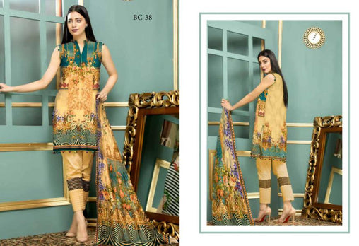 BC-38 - BELLA COLLECTION - 3 PIECE SUIT 2019-Three Piece Suit-SAFWA -SAFWA Brand Pakistan online shopping for Designer Dresses| SAFWA| DRESS| DESIGN| DRESSES| PAKISTANI DRESSES
