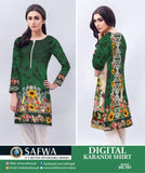 DG397 - SAFWA DIGITAL KARANDI PRINT KURTI COLLECTION -SHIRT KURTI KAMEEZ