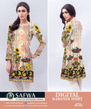 DG399 - SAFWA DIGITAL KARANDI PRINT KURTI COLLECTION -SHIRT KURTI KAMEEZ