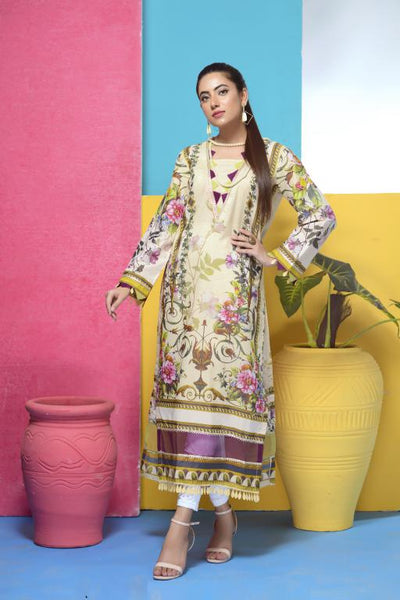 DM-03 -SAFWA DIGITAL PRINTED LAWN-MESURI COLLECTION-DIGITAL LAWN SHIRT - Safwa-Pakistani Dresses-Dresses-Kurti-Shop Online