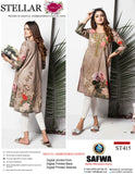 ST-415 - SAFWA PREMIUM LAWN - STELLER COLLECTION - EMBROIDERY DIGITAL  - SHIRTS
