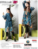 ST-416 - SAFWA PREMIUM LAWN - STELLER COLLECTION - EMBROIDERY DIGITAL  - SHIRTS