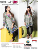 ST-417 - SAFWA PREMIUM LAWN - STELLER COLLECTION - EMBROIDERY DIGITAL  - SHIRTS