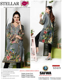 ST-419 - SAFWA PREMIUM LAWN - STELLER COLLECTION - EMBROIDERY DIGITAL  - SHIRTS