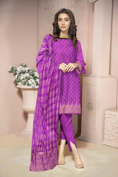 JC-43-SAFWA JACQUARD KARANDI/COTTON COLLECTION-3 PIECE DRESS - Safwa |Dresses| Pakistani Dresses| Fashion|Online Shopping