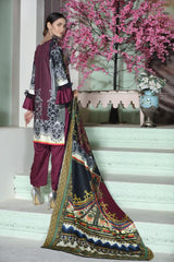 MC 43 - SAFWA DIGITAL MODALLE 3 PIECE PRINT COLLECTION -SHIRT Trouser and Duptta |SAFWA DRESS DESIGN| DRESSES| PAKISTANI DRESSES| SAFWA -SAFWA Brand Pakistan online shopping for Designer Dresses