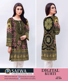 DG449 - SAFWA DIGITAL COTTON PRINT KURTI COLLECTION -SHIRT KURTI KAMEEZ