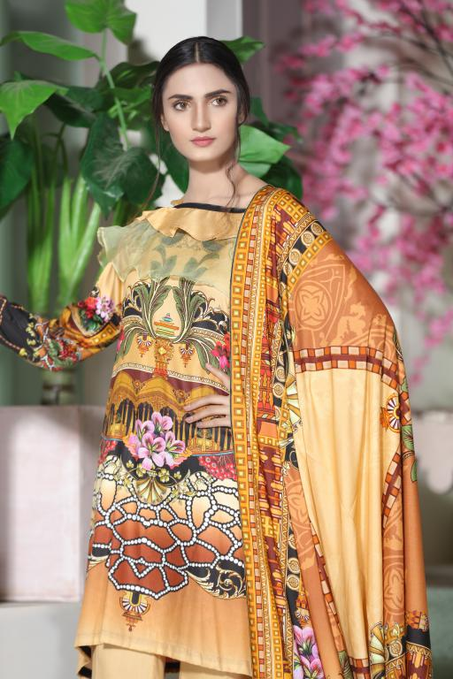 MC 45 - SAFWA DIGITAL MODALLE 3 PIECE PRINT COLLECTION -SHIRT Trouser and Duptta |SAFWA DRESS DESIGN| DRESSES| PAKISTANI DRESSES| SAFWA -SAFWA Brand Pakistan online shopping for Designer Dresses