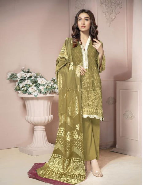 JC-46-SAFWA JACQUARD KARANDI/COTTON COLLECTION-3 PIECE DRESS - Safwa |Dresses| Pakistani Dresses| Fashion|Online Shopping