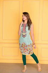 D-501-SAFWA LAWN-SANIA BATTLA COLLECTION-EMBROIDERED-2 PIECE DRESS