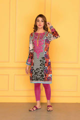 D-504-SAFWA LAWN-SANIA BATTLA COLLECTION-EMBROIDERED-2 PIECE DRESS
