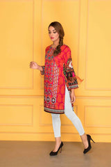 D-505-SAFWA LAWN-SANIA BATTLA COLLECTION-EMBROIDERED-2 PIECE DRESS
