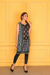 D-506-SAFWA LAWN-SANIA BATTLA COLLECTION-EMBROIDERED-2 PIECE DRESS
