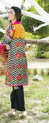 D-510-SAFWA LAWN-SANIA BATTLA COLLECTION-EMBROIDERED-2 PIECE DRESS