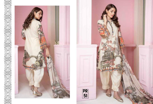 PR-51 SAFWA DRESS DESIGN, DRESSES, PAKISTANI DRESSES, PRAHA COLLECTION - 3 PIECE SUIT 2019-Three Piece Suit-SAFWA -SAFWA Brand Pakistan online shopping for Designer Dresses