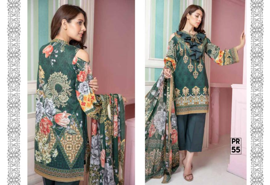 PR-55 SAFWA DRESS DESIGN, DRESSES, PAKISTANI DRESSES, PRAHA COLLECTION - 3 PIECE SUIT 2019-Three Piece Suit-SAFWA -SAFWA Brand Pakistan online shopping for Designer Dresses