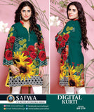DG579 - SAFWA DIGITAL COTTON PRINT KURTI COLLECTION -SHIRT KURTI KAMEEZ